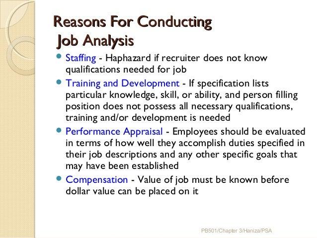 job analysis and other terms
