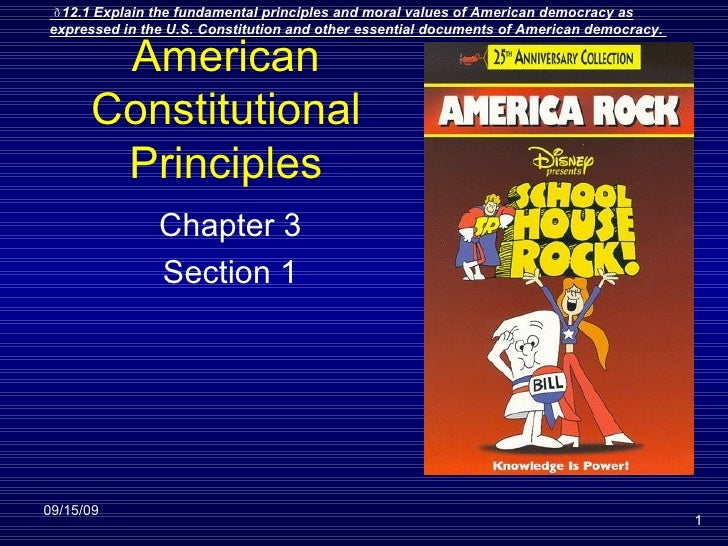 American Constitutional Principles Chapter 3 Section 1