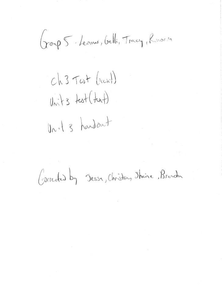 Ch 3 test (text)  unit 3 test (text) unit 3 handout