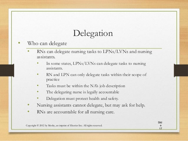 Process of Delegation of Authority