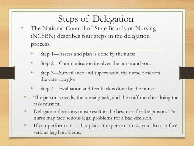 utilizing delegation in nursing