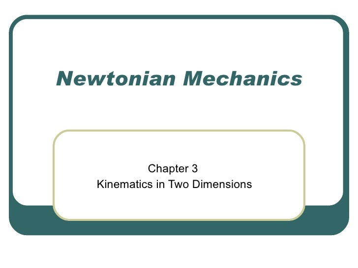 Ch 3 Two Dimensional Kinematics