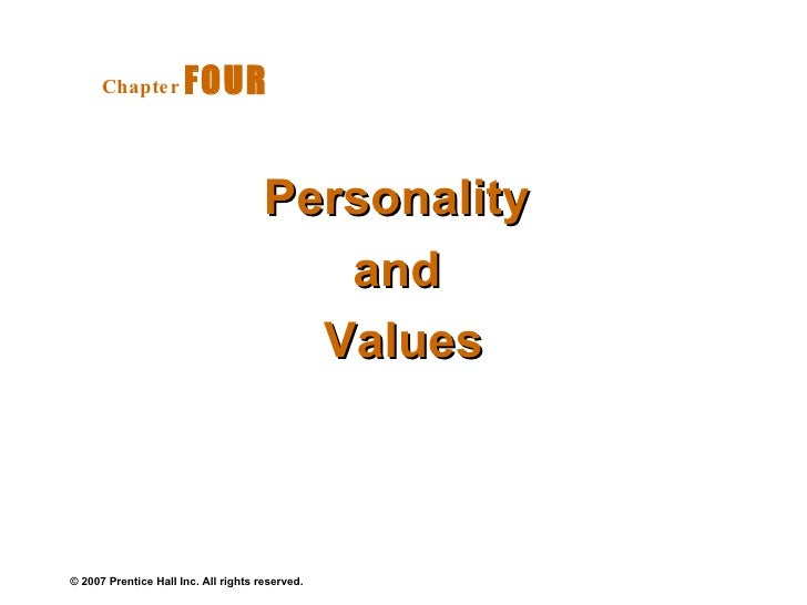 Personality  and  Values Chapter   FOUR