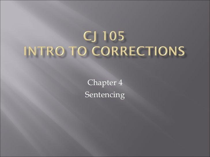 Chapter 4 Sentencing