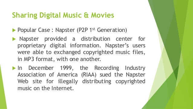 the case versus napster and the recording industry association of america Napster's facilitation of transfer of copyrighted material raised the ire of the recording industry association of america (riaa), which almost immediately—on december 7, 1999—filed a lawsuit against the popular service the service would only get bigger as the trial, meant to shut down napster, also gave it a great deal of publicity.
