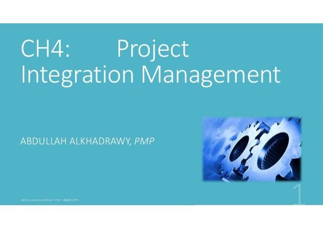 PMP PMBOK5 Ch4 integration management