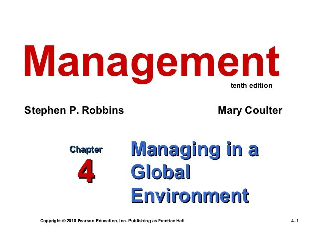 Ch 4 managing in a global environment