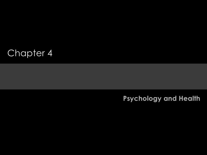 Psychology and Health Chapter 4