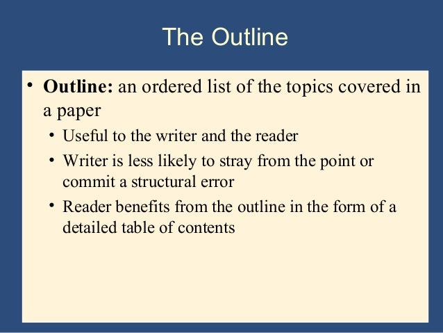 outlines for essay