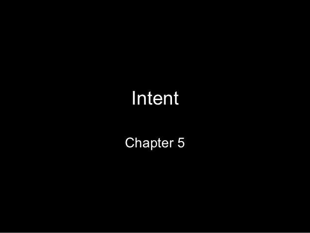 IntentChapter 5