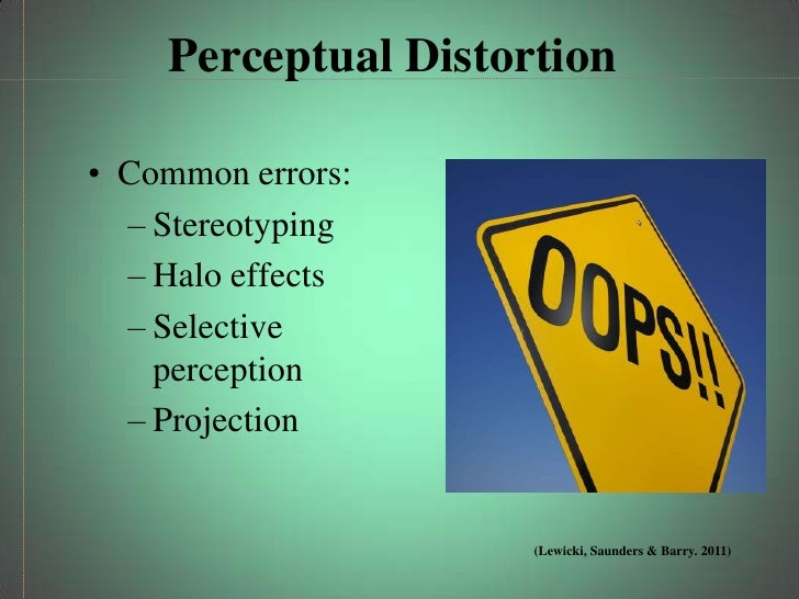 common perceptual distortions Study guide/multiple choice questions from the textbook learn with flashcards, games, and more — for free what are the common perceptual distortions.