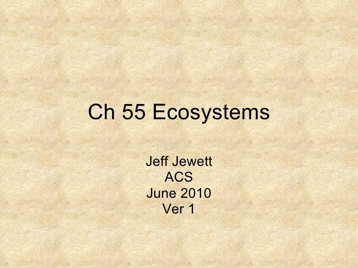 Ch 55 ecosystems