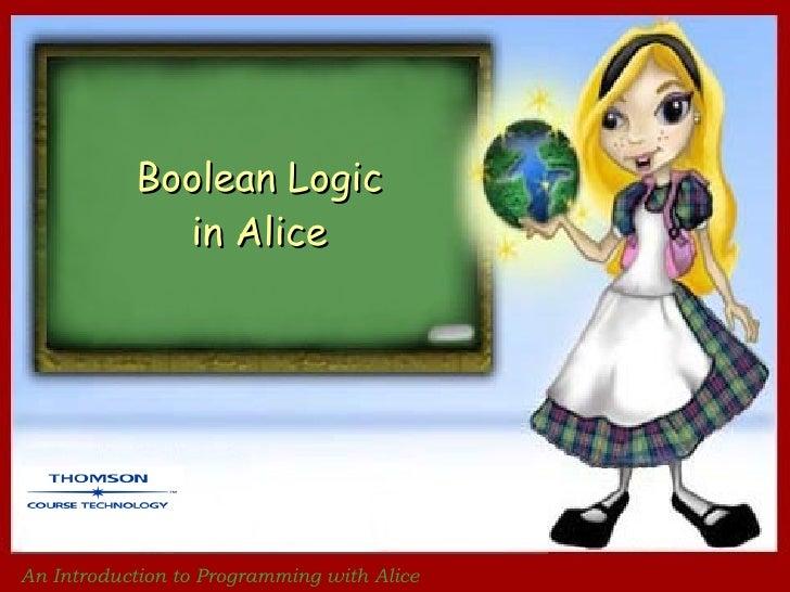 Ch 5  boolean logical in alice