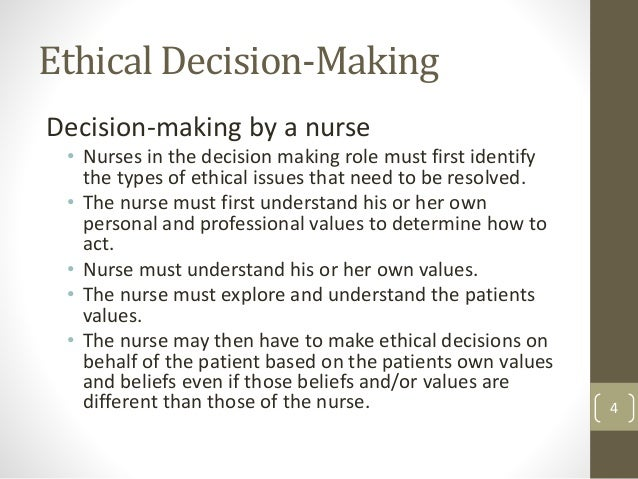 ethical decision making model analysis essay The four topics approach to clinical ethics case analysis each topic represents a set of specific questions the physician ethical decision making.