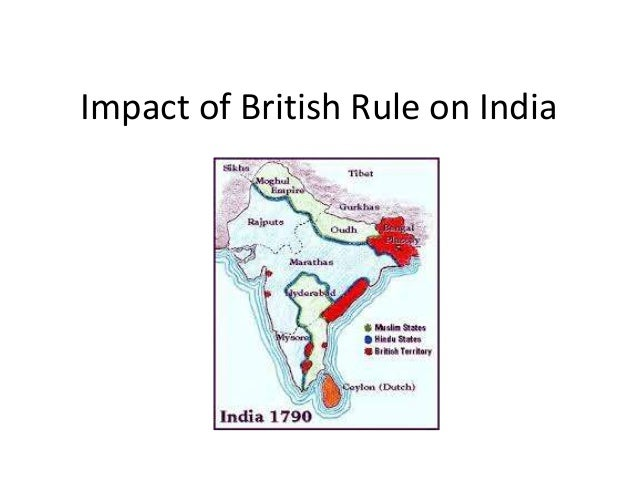 Essay on impact of british rule in india