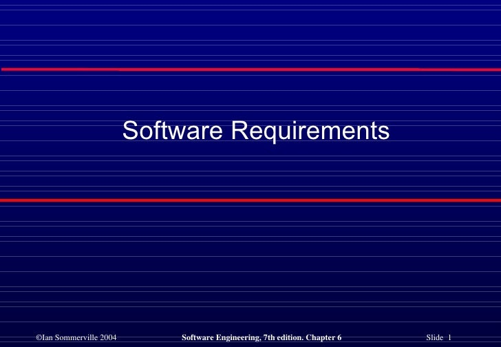 SE - Software Requirements
