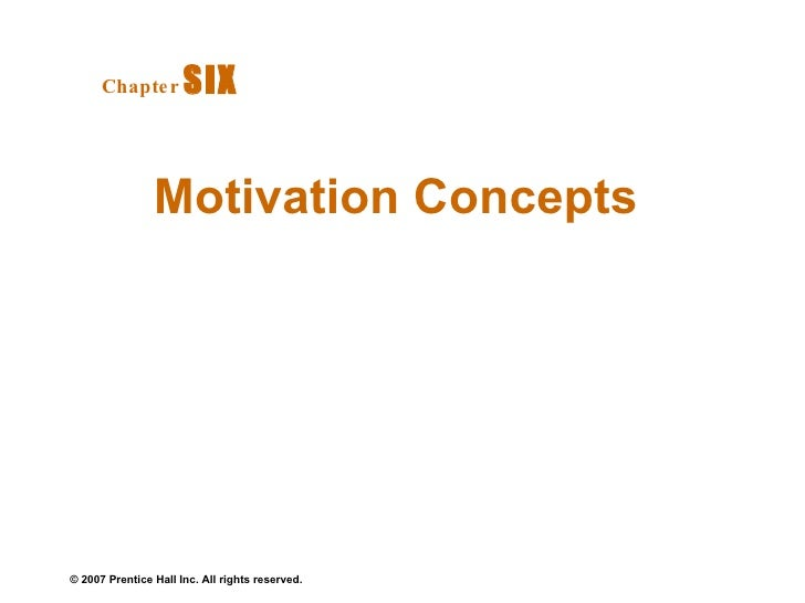 Motivation Concepts Chapter   SIX