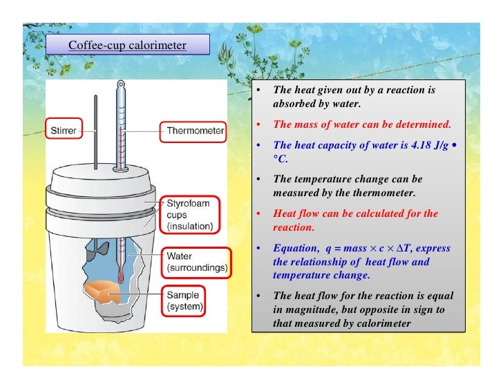 Calorimeter Problems Coffee Cup Coffee Cup Calorimeter The