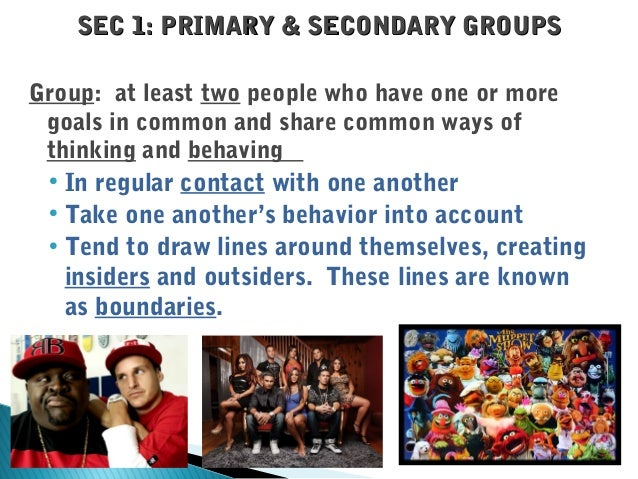 sociology and a primary group Alan p bates and nicholas babchuk ooley's concept of the primary  group has long been an accepted c part of the established tradition of sociology.