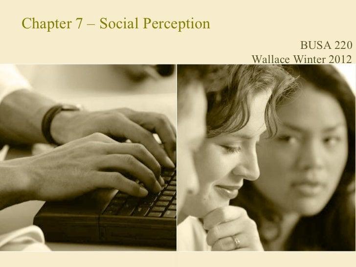 OB - Social Perception