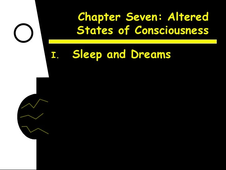 Chapter Seven: Altered States of Consciousness <ul><li>Sleep and Dreams </li></ul>