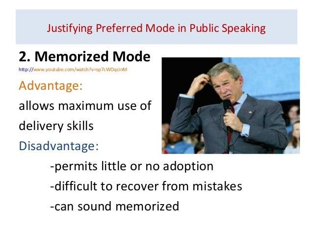 impromptu or extemporaneous speaking