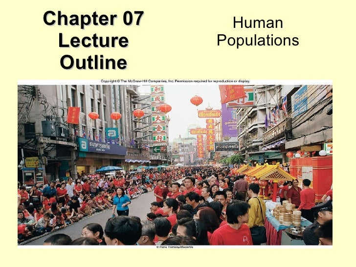 Chapter 07 Lecture Outline Human Populations