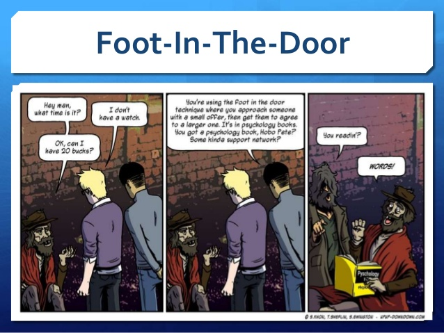 foot in the door technique 3