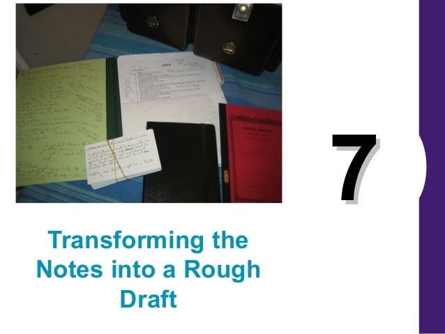 77 Transforming the Notes into a Rough Draft