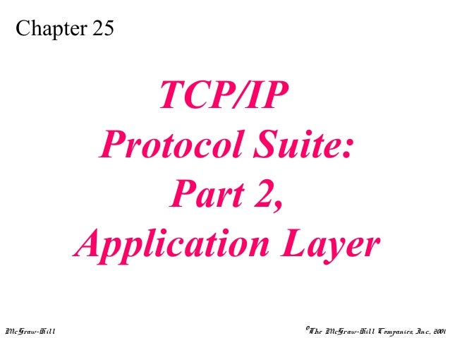 Chapter 25  TCP/IP Protocol Suite: Part 2, Application Layer McGraw-Hill  ©The McGraw-Hill Companies, Inc., 2001