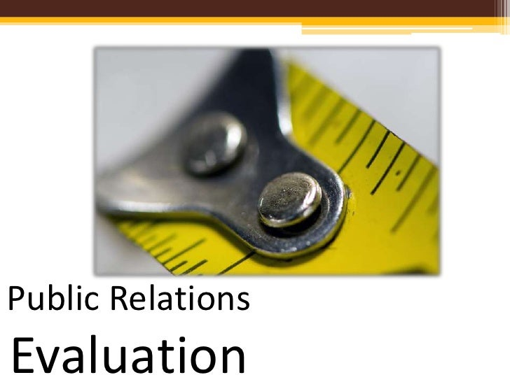 Public Relations Evaluation
