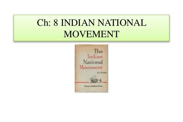 Nios Std X, 10th , Social Science, Ch 8 indian national movement