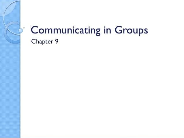 COM 110 Ch 9 Groups
