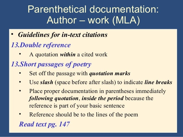 Quotating in a research paper?