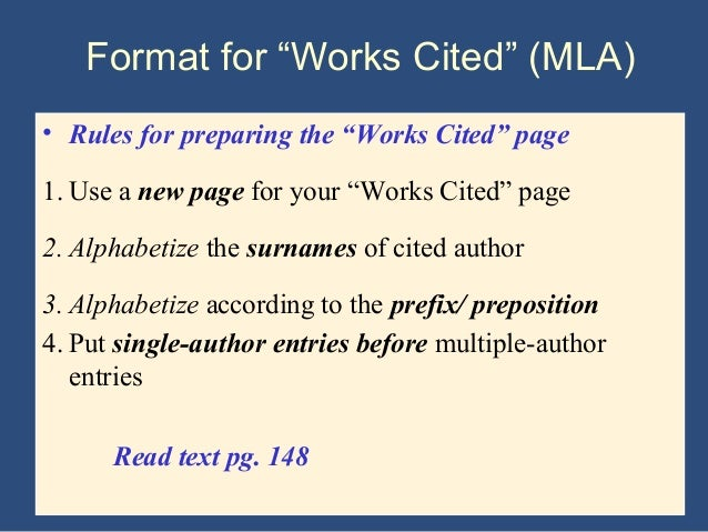 Mla handbook for writers for research papers