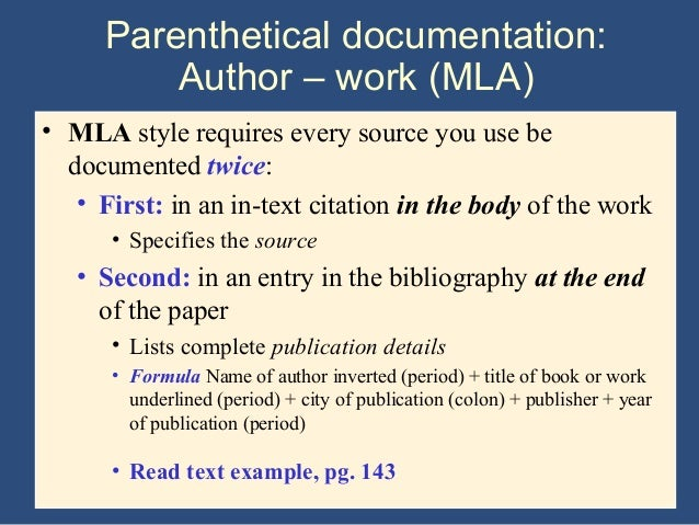 mla research paper handbook