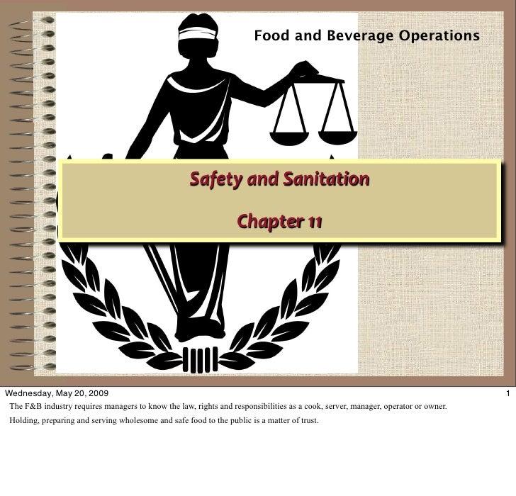 Food and Beverage Operations                                                          SafetyandSanitation               ...