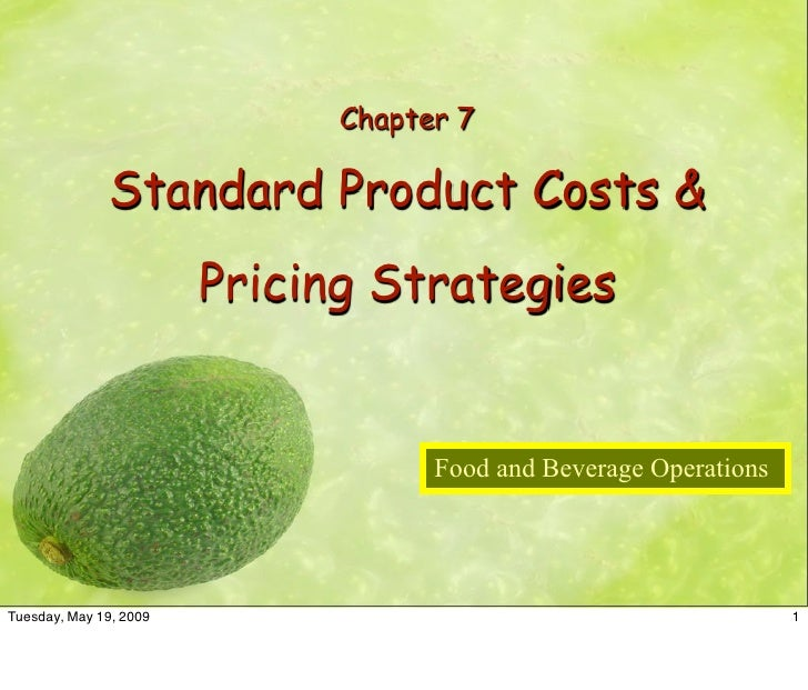 Chapter 7                Standard Product Costs &                         Pricing Strategies                              ...