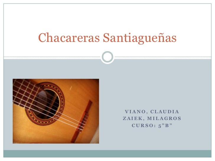 Chacareras santiagueñas