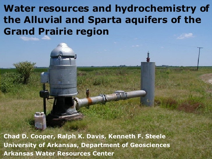 Water resources and hydrochemistry of the Alluvial and Sparta aquifers of the Grand Prairie region