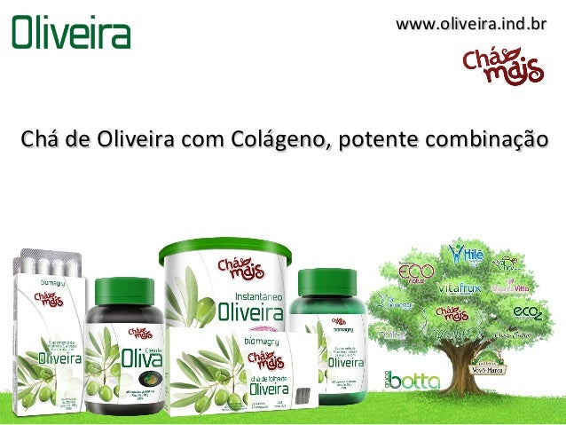 Cha de oliveira com colageno, combinação perfeita