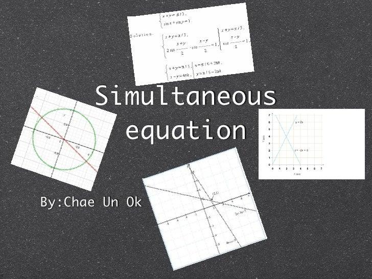 Chae un simultaneous equation