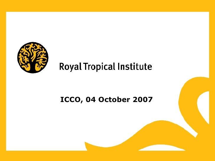 ICCO, 04 October 2007