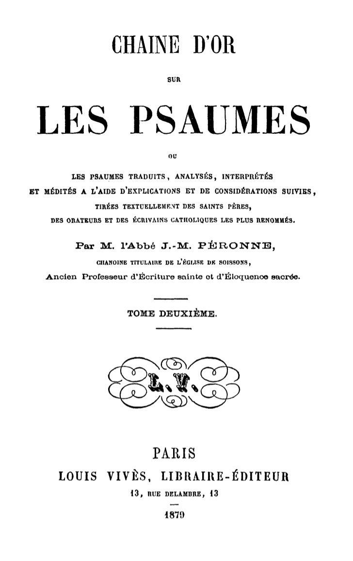 CHAINE D'OR SUR LES PSAUMES 2