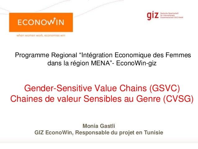 """Page 1 Programme Regional """"Intégration Economique des Femmes dans la région MENA""""- EconoWin-giz Gender-Sensitive Value Cha..."""