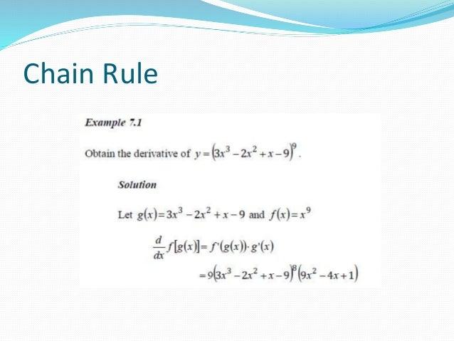 Chain rule & trigonometric functions