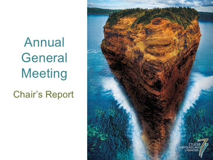 Annual General Meeting Chair's Report