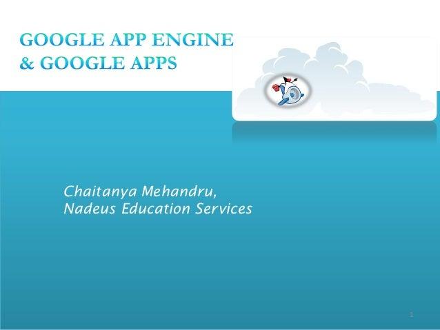 Chaitanya Mehandru,Nadeus Education Services                            1