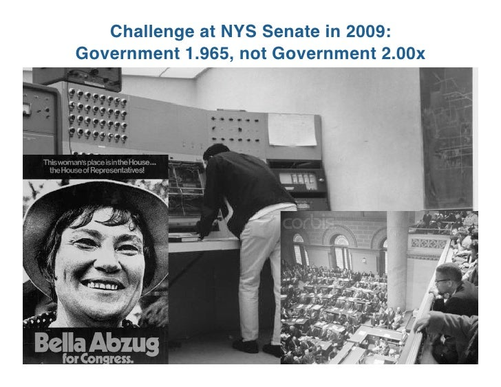 Challenge at NYS Senate in 2009: Government 1.965, not Government 2.00x                                              1
