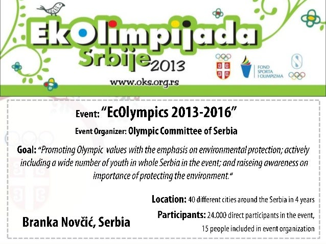 [Challenge:Future] EcOlympics 2013 - Recycle smart